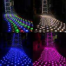 Outdoor Christmas Decorations For Sale Online by 1 5mx1 5m 100 Led Outdoor Net Mesh Lights Twinkle Lighting