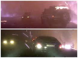 Wildfire 3 Wheel Car Review by Russian Cars Drive Through Fire Rain Pass Each Other While