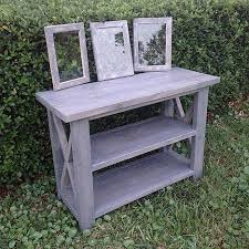 rustic x console table handmade furniture saint augustine for the love of wood