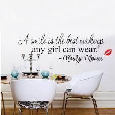 Marilyn Monroe Bedroom Furniture Aliexpress Com Buy Marilyn Monroe Quote A Smile Is The Best