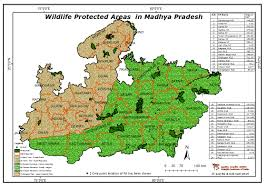 Bhopal India Map by Maps Of Protected Areas In India
