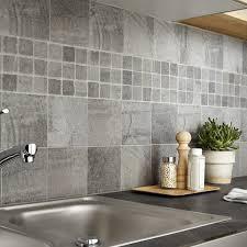 carrelage cuisine mural carrelage sol et mur gris vestige l 15 x l 15 cm leroy merlin
