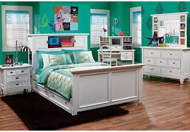 White Girls Bookcase by White 6 Pc Full Bookcase Bedroom