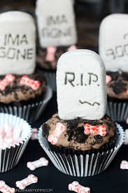 Halloween Grave Cake Marshmallow Peeps Tombstone Cupcakes Young At Heart Mommy