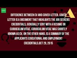 What Is The Difference Between Resume And Cv What Is The Difference Between A Cv And A Cover Letter Youtube