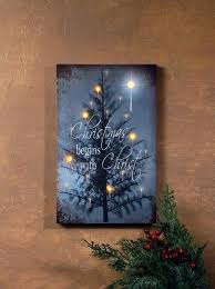 lighted canvas art with timer lighted wall decoration canvas prints art begins with tree and star
