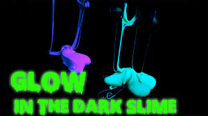 diy glow in the dark slime no borax or starch youtube