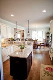 kitchen light brown u shaped design ideas using white within