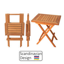 teak folding table square end table teak deck company teak