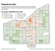 Map Of Medina Ohio by Cuyahoga County Property Tax Rates 35 Percent Higher Than Some