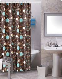 Turquoise And Brown Curtains Turquoise Brown Shower Curtain Shower Curtain Ideas