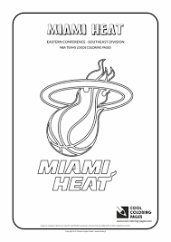 miami heat nba basketball teams logos coloring pages best of logo