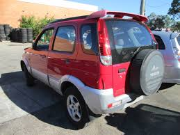daihatsu terios wrecking daihatsu terios ii 1 3i m red for spare car parts