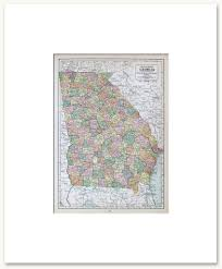 Map Of Ga States A G Vintage Maps