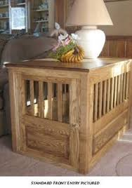 dog kennel end table i want one but a coffee table so there would