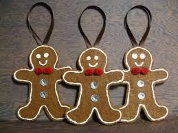 gingerbread ornaments felt ornament created by jess