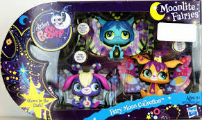 amazon com littlest pet shop exclusive moonlite fairies fairy