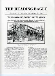 History Of The Blind About Us Blind Hartman U0027s Tavern