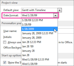 date format change the date format project