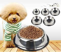 2018 Stainless Steel Cat Dog Bowl High Grade Non Slip Pet Bowl Pet