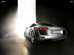 audi r8 car wallpaper hd audi r8 automobiles cars german joo rear angle view silver