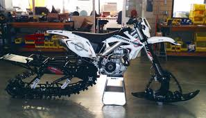 snow motocross bike christini ii track awd snow bike is ready to hit the slopes