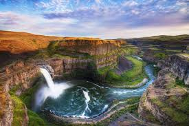 Palouse falls washington landscape scenery