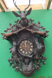 Antique Cuckoo Clock Large 19th Century Black Forest Cuckoo Clock With Detailed Hunting