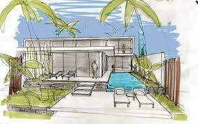 villa design sketch interior design ideas
