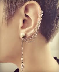 ear clasp online jewellery store buy jewellery online pearl leaf ear cuff