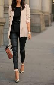 tenue de bureau mode et beauté élégante tenue de bureau top ceinturé et slim cuir