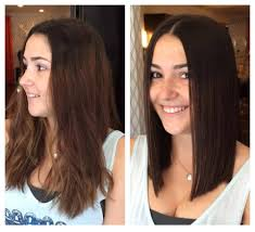 before and after haircut and gloss by bella salon of naples hair