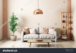 modern interior living room gray sofa stock illustration 479506507