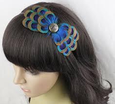 peacock headband peacock headband clip hair bows peacock feathers