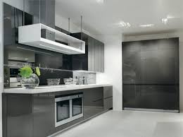 Black Lacquer Kitchen Cabinets by Glazed Grey Kitchen Cabinets Grey Metal Chrome Single Bowl Sink