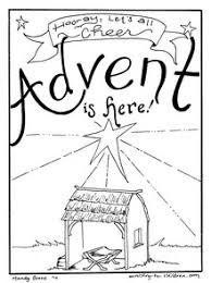 advent coloring pages coloring