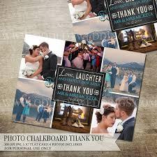 collage thank you photo card photo thank you card wedding