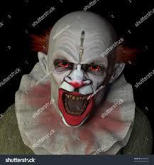 scary clown glaring you red eyes stock illustration 99990686