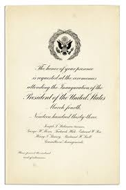 Business Inauguration Invitation Card Sample Lot Detail Fdr 1933 Inauguration Materials The Start Of His