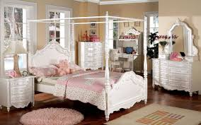 princess canopy beds for girls cm7519 victoria kids bedroom in pearl white w canopy bed
