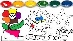 summer coloring pages learning coloring learn colors for
