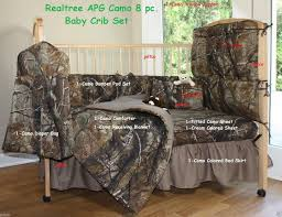 Camouflage Bedding For Cribs Realtree Camo 8 Pc Baby Crib Set Nursery Gift Set