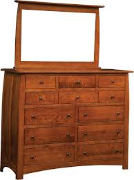 Shipshewana Furniture Company by Superior Shaker 12 Drawer Dresser And Mirror