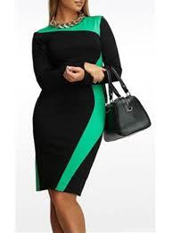 sleeve black dress plus size dresses cheap price