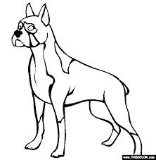 boxer dog coloring pages funycoloring