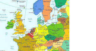 netherlands location in europe map where is netherlands map