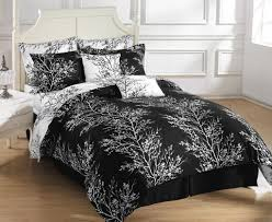bed linens black and white comforter sets full white bed frame