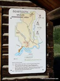 Montana travel management company images Map for the beartooth wildlife management area wma to the north jpg