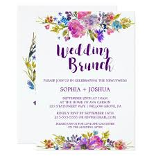 wedding brunch invitation plum purple garden post wedding brunch invitation zazzle