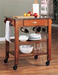 kitchen islands wheels kitchen island warm oak finish granite top and wheels by coaster